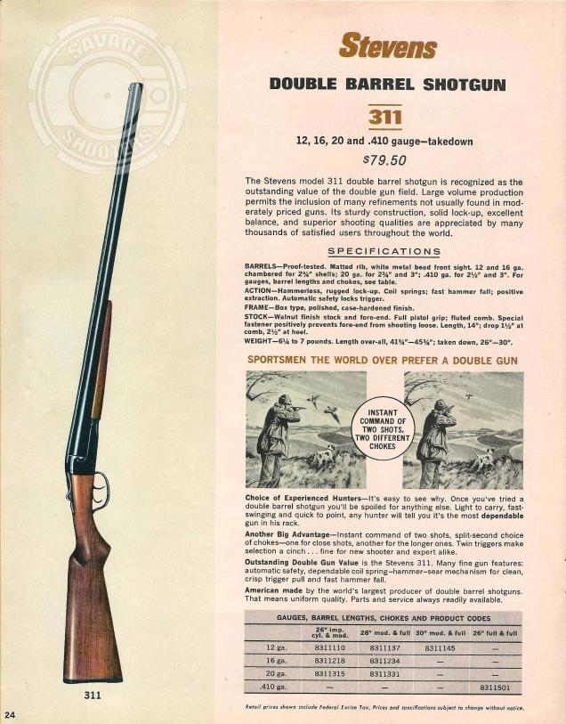 Savage Shooters - Savage Arms 1965 Print Catalog