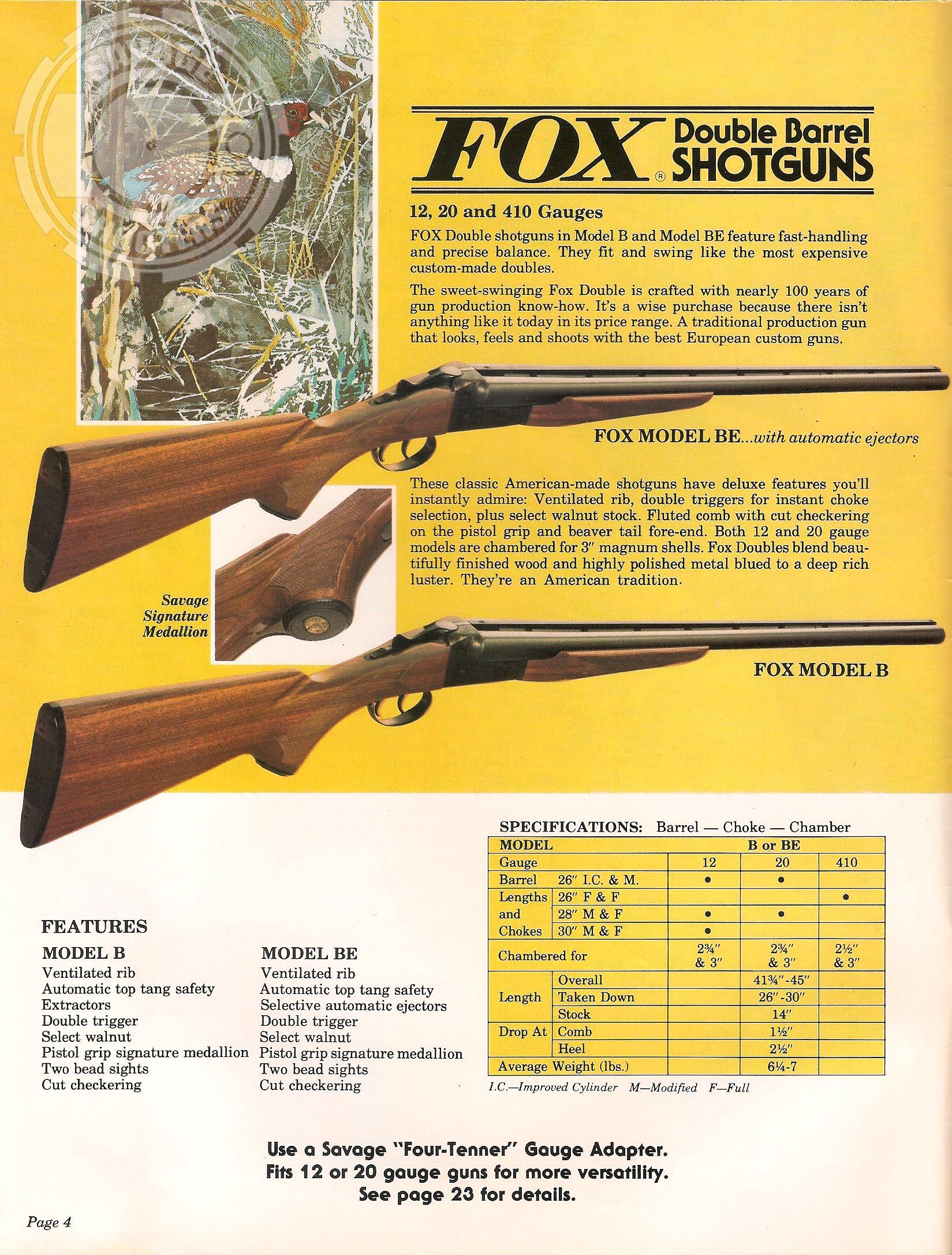 Savage Shooters - Savage Arms 1980 Print Catalog