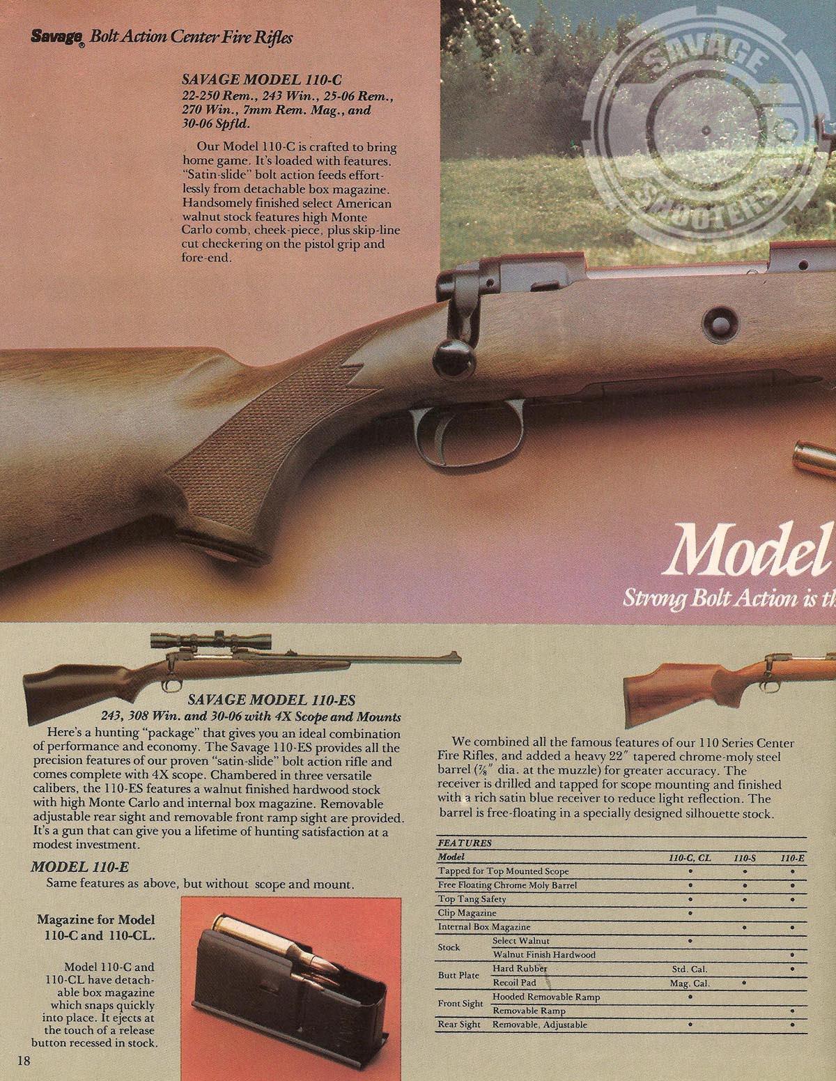 Savage Shooters - Savage Arms 1982 Print Catalog