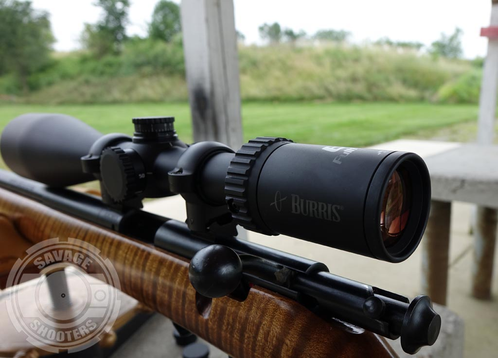 The Burris FullField E1 looks right at home on the Savage 93R17.