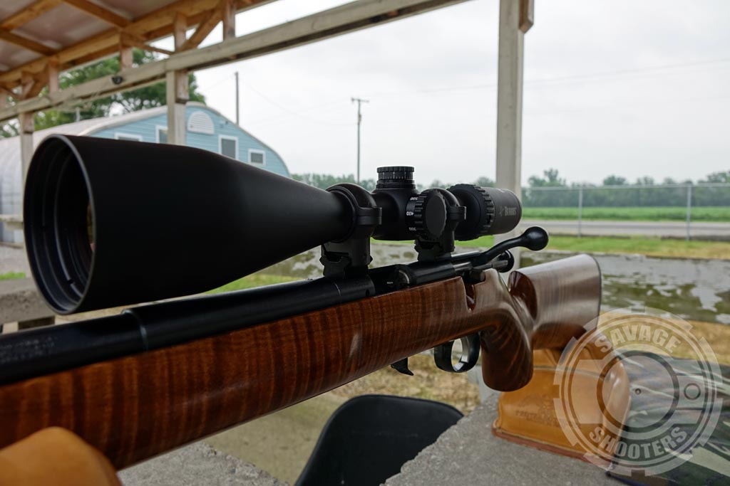 Taller Weaver bases and medium Burris Signature Zee rings provide just the right mounting height on this rifle.
