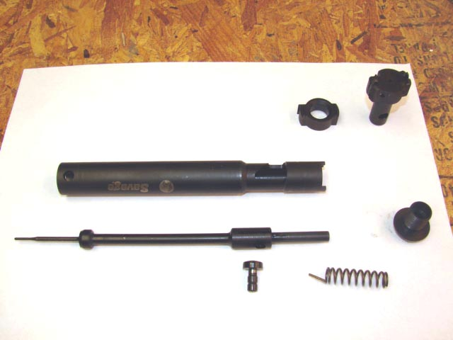 Exploded view of the bolt assembly.