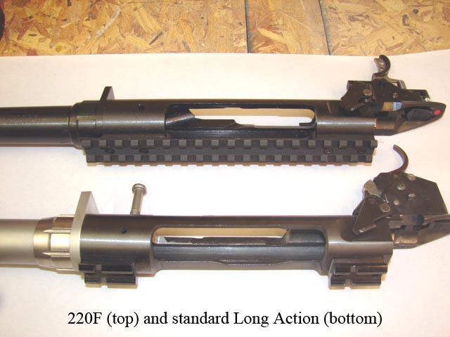 Comparing the 220F to a standard 110 long-action centerfire