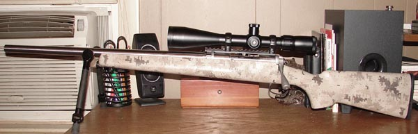 McGowen barrel fitted to the author's single-shot varmint rifle.
