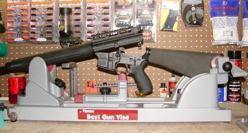 AR-15 rifles can be secured in both the closed and open positions.
