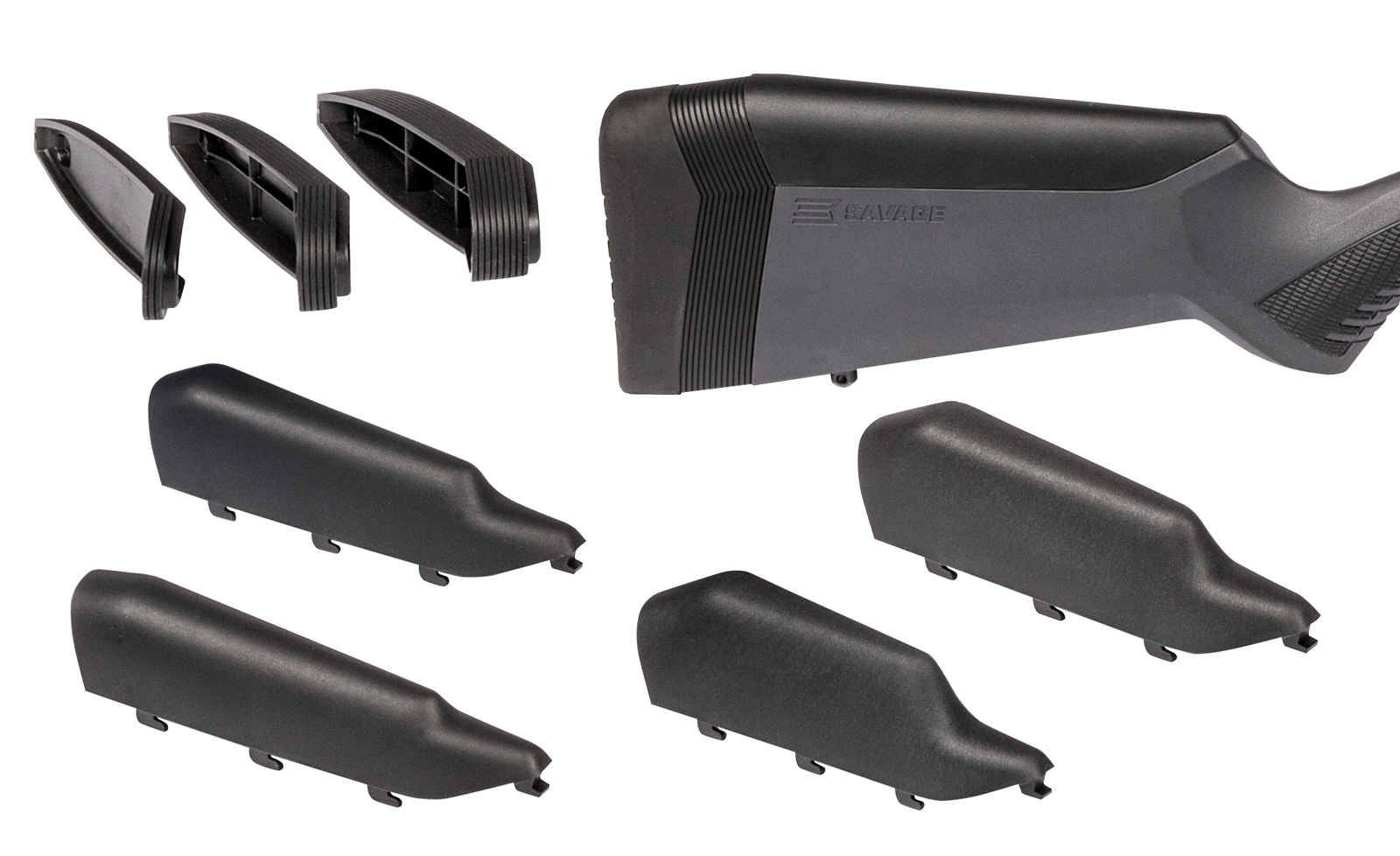Three butt pad spacers and four different comb height options are included with all AccuFit equipped models.