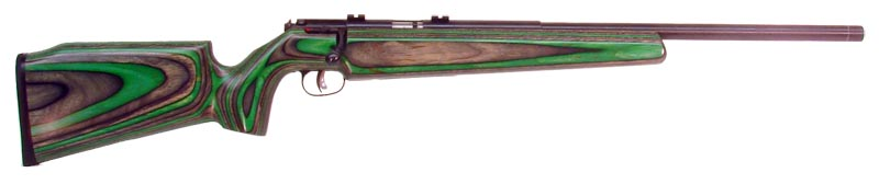 "The Match/Target Rimfie stock from Sharp Shooter Supply has a ""fish belly"" forearm design that is deep enough to offer support in the standing position and completely recesses the magazine while not being too deep for the kneeling position."