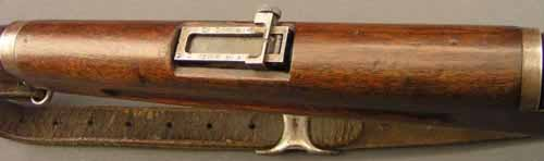 Rear sight on the Montreal Home Guard rifles.