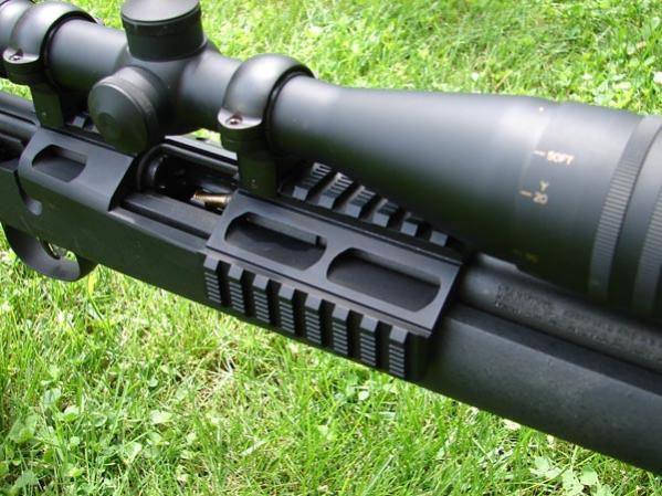 The top rail offers plenty of cross slots to accommodate optics of most any length.