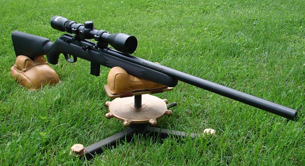 The heavier profile barrel adds a little weight but the rifle still balances well in the hands for shooting off-hand.
