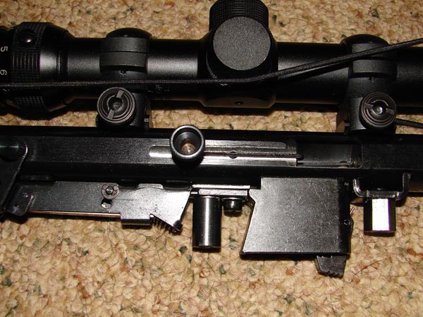 Bolt shown locked in the open position