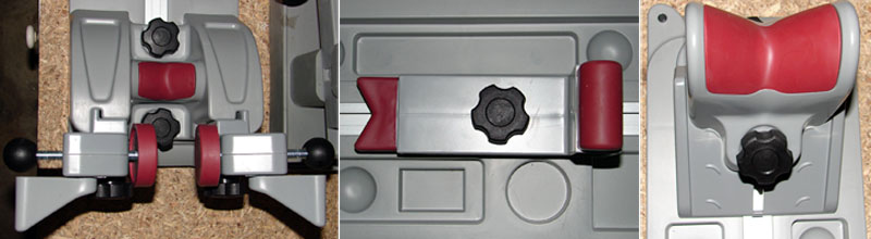 Close-up shots of the three support posts used on the Best Gun Vise.