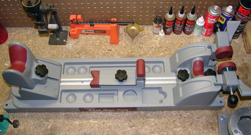 The Best Gun Vise uses a t-track and three adjustable supports to secure most any type of firearm.