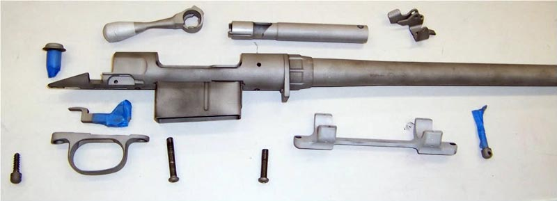 Metal parts blasted prior to being DuraCoated by GCS